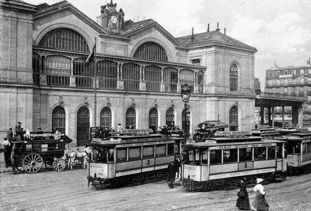 Fachada do Terminal de Montparnasse, Paris em 1890