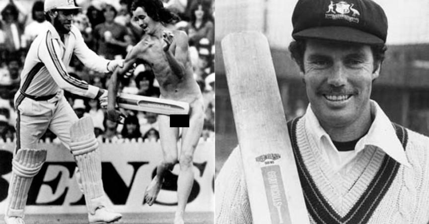 Jogador Greg Chappell, saiu como herói ao colocar estrategicamente seu bastão nas partes intimas do streaker desconhecido, durante partida em 1979, entre Austrália X West Indies, em Melbourne, Austrália