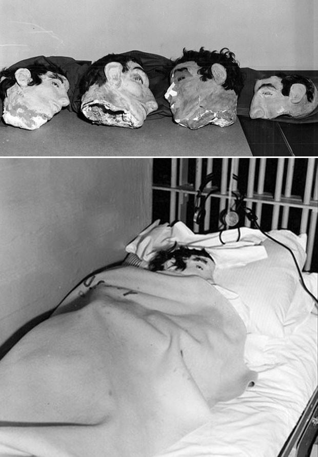 Os presos fizeram cabeças de papier-mâché e sabão e as colocaram nas camas para enganar os guardas | Foto: FBI