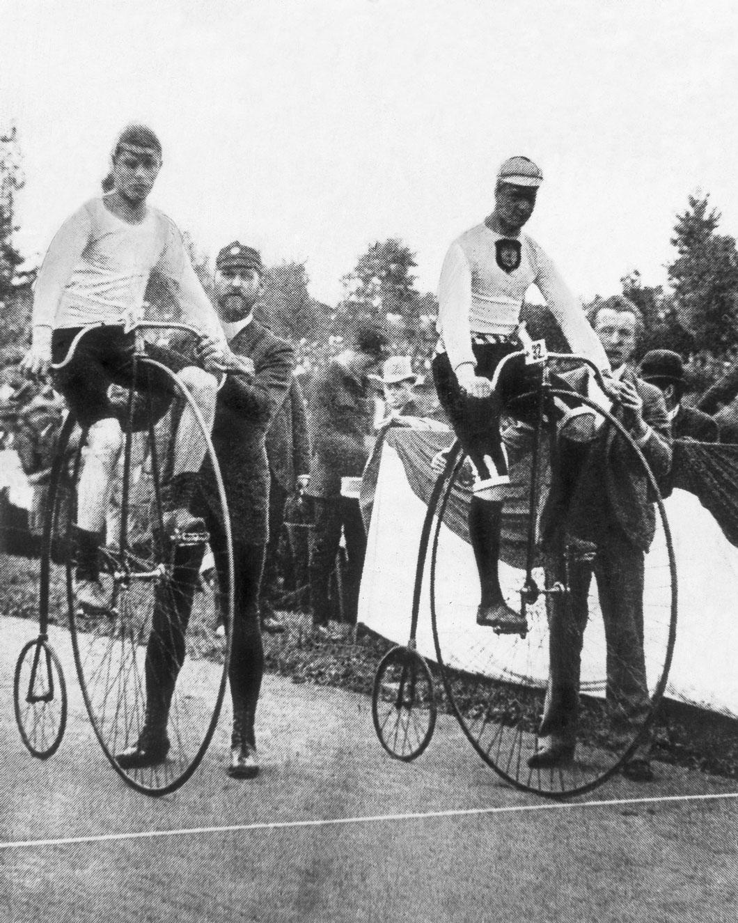 O primeiro campeonato mundial de ciclismo em Berlim, Alemanha