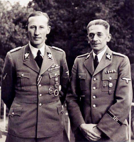 Reinhard Heydrich e Karl Hermann Frank