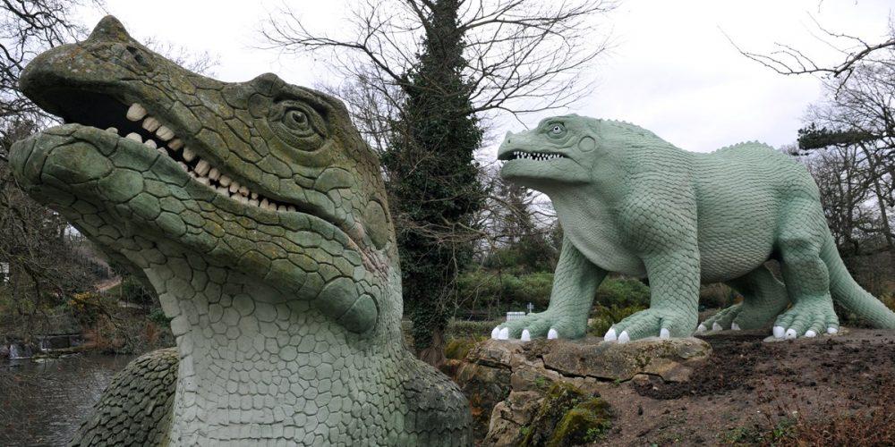 Os estranhos dinossauros do Crystal Palace Park