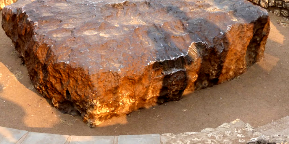 O meteorito Hoba, o maior já encontrado na Terra