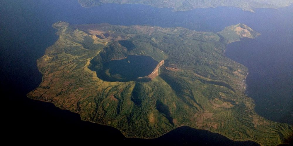 Ilha de Luzon e o lago em uma ilha dentro de um lago em uma ilha
