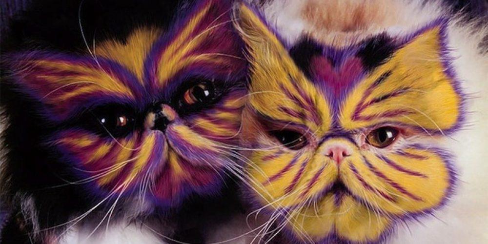 A polêmica e satírica arte da pintura felina