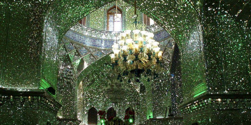 O reluzente mausoléu Shah-e-Cheragh