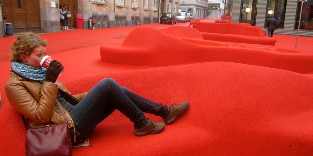 Stadtlounge, uma sala de estar ao ar livre
