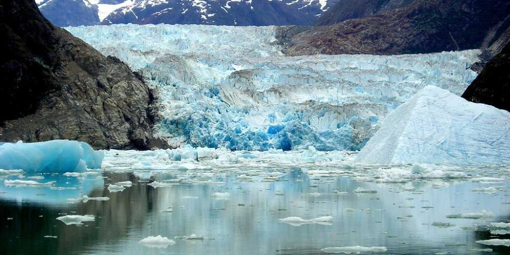 Surpreendente antes e depois das geleiras no Alaska