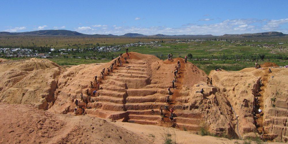 As minas de safiras de Ilakaka em Madagascar