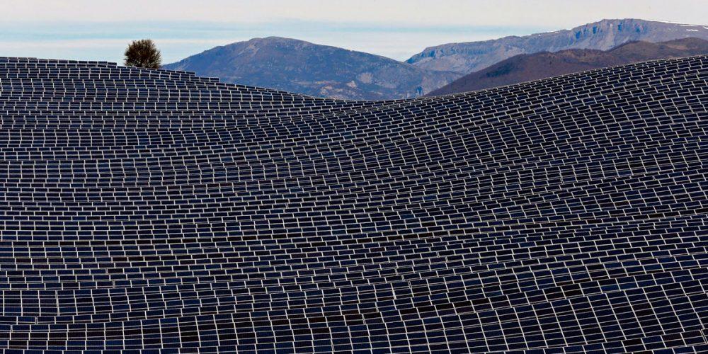 Fazenda solar Les Mées, na França