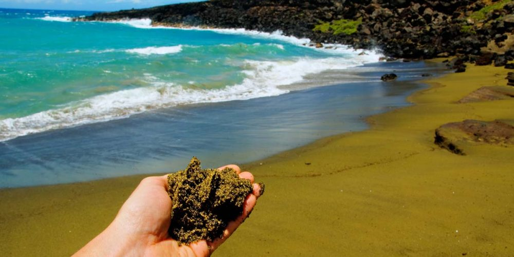 Papakolea Beach, a praia de areia verde