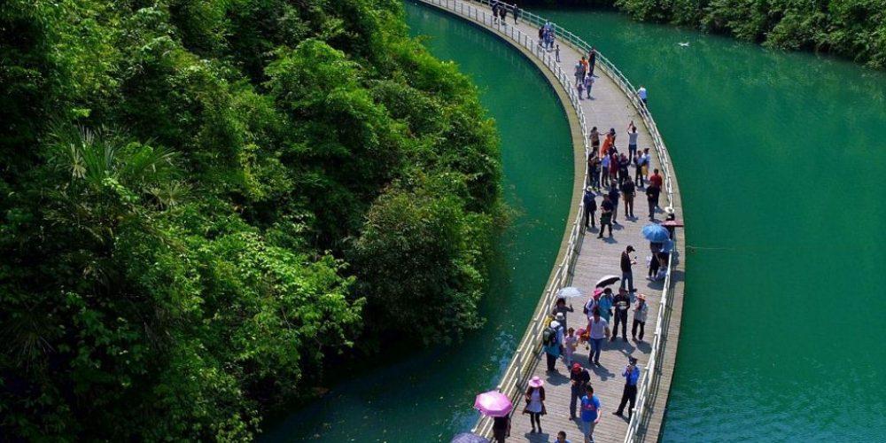 A passarela flutuante na China