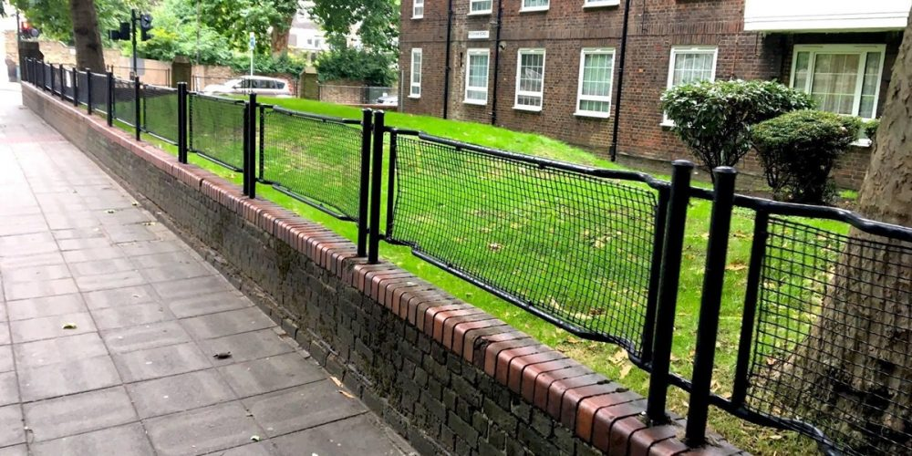 Stretcher fences, as macas usadas como cercas na Inglaterra